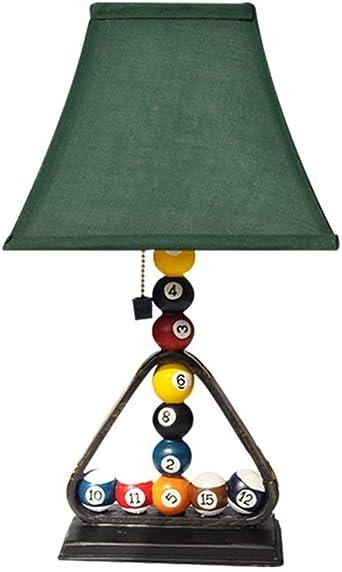 Billar creativo Lámpara de mesa Personalidad moderna Resina LED ...