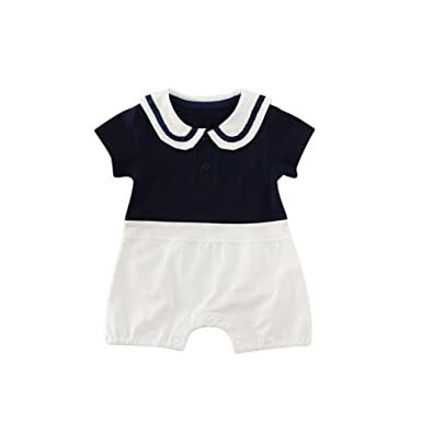 126c346d363 NOMSOCR Infant Baby Boys Girls Summer Short Sleeve One-Pieces Rompers  Ruffle Jumpsuit Bodysuit Outfits