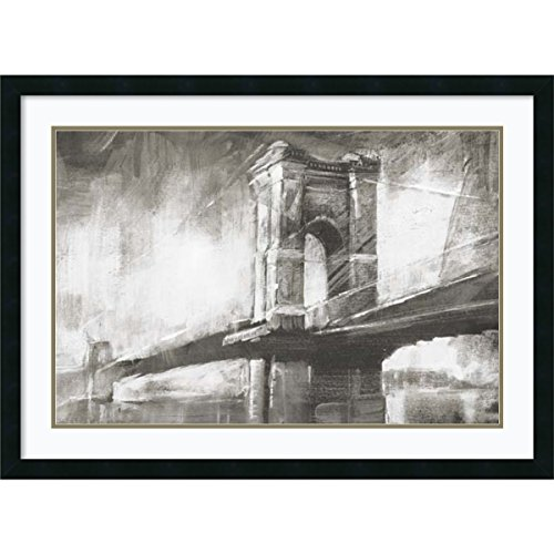 Framed Art Print 'Historic Suspension Bridge I' by Ethan Harper: Outer Size 37 x 27'' by Amanti Art