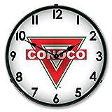 Conoco Logo Lighted Vintage Clock