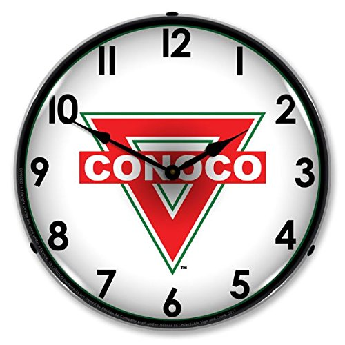 The Finest Website Inc. New Conoco Gas Retro Vintage Style Advertising Backlit Lighted Clock - Ships Free Next Business Day to Lower 48 States