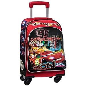 Disney Cars Mochila Escolar, 32 Litros, Color Rojo