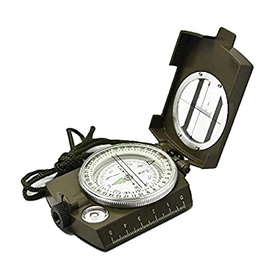 Professional Multifunction Military Army Metal Sighting Compass High Accuracy Waterproof Compass Green Color
