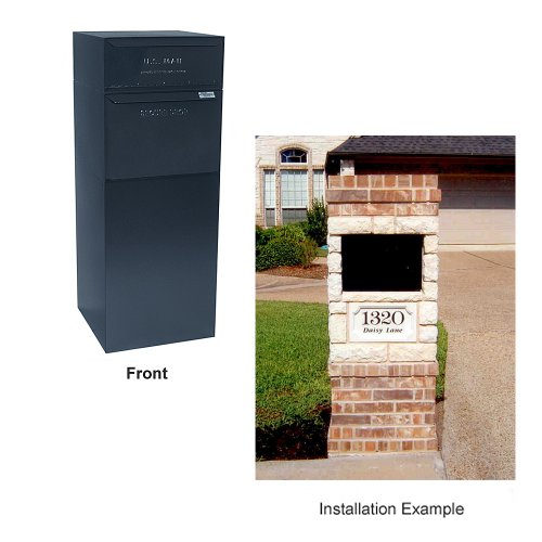 dVault® Full Service Vault DVCS0015 Secure Curbside Mailbox/Package Drop with Locking Letterbox (Black)