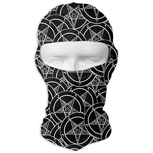(Leopoldson Satanic Sigil of Baphomet Pentagram Balaclava UV Protection Windproof Ski Face Masks for Cycling Outdoor Sports Full Face Mask)