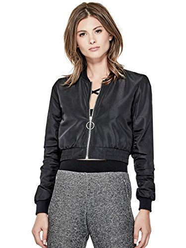 GUESS Factory Women's Balie Cropped Bomber (Cotton Jean Jacket)