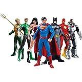 مجموعة مجسمات لشخصيات فرق العدالة المكونة من 7 قطع يمكن أن نكون أبطال من دي سي كوميكس