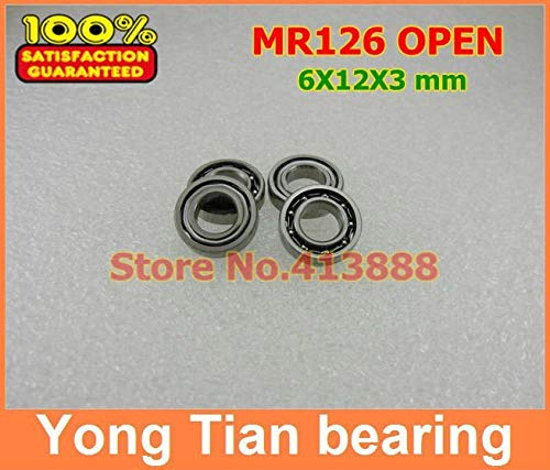 (Ochoos ABEC-5 Z2 Miniature Bearing MR126 L-1260 Open 6123 MM for Rc Hobby and Industry 20 pcs/lot )