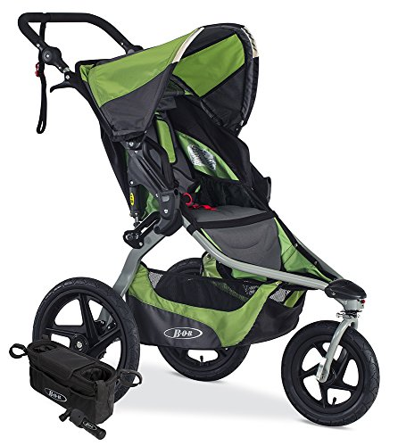 BOB Revolution Flex 2.0 Jogging Stroller; Meadow with Handlebar Console and Tire Pump