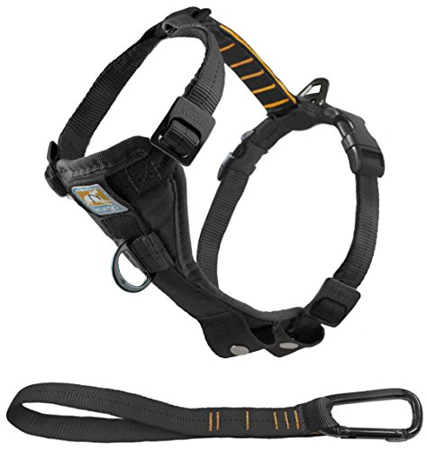Kurgo Tru-Fit No Pull Dog Harness, Easy Walk Harness, Quick On and Off Harness With Pet Seat Belt Tether for Car, Black, Medium by Kurgo