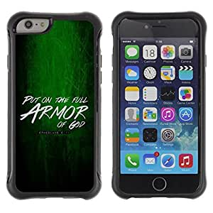 LASTONE PHONE CASE / Suave Silicona Caso Carcasa de Caucho Funda para Apple Iphone 6 / BIBLE Put On The Armor Of God - Ephesians 6:11