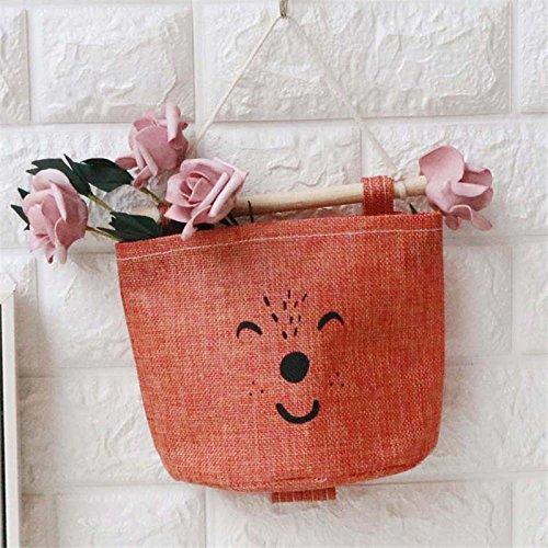 Red Tonpot Linen portaoggetti da appendere sacchetto PE rivestimento impermeabile Storage Bag Hanging Organizer contenitore Appendibile Bags 17x20cm