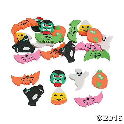 72 Mini Halloween Erasers