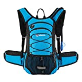 MIRACOL Hydration Backpack with 2L Water Bladder, Thermal Insulation Pack Keeps Liquid Cool up to 4 Hours, Prefect Outdoor Gear for Skiing, Running, Hiking, Cycling (Blue)
