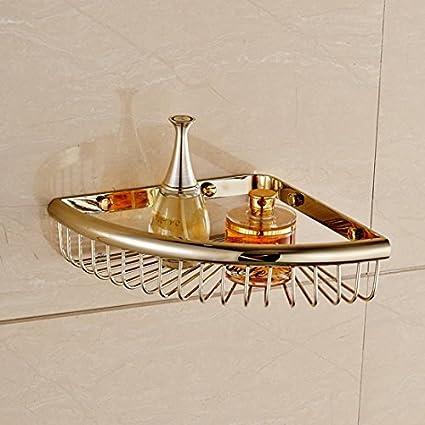 Amazon.com: GUMA Bathroom Angle Corner Storage Wire Shower Basket ...