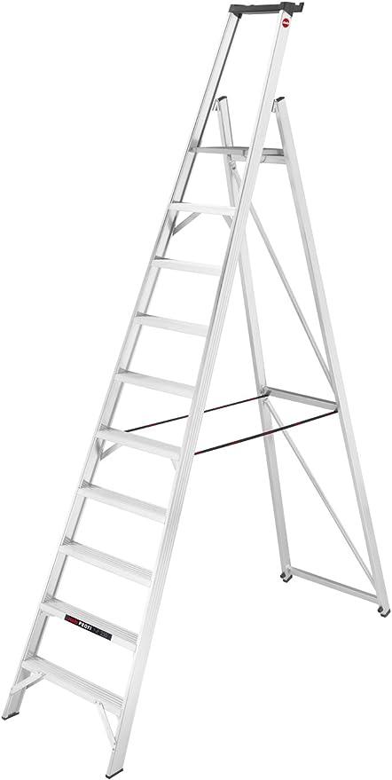 Hailo 8210 – 250 ProfiLine P250 profesional de aluminio Plataforma de escalera con bandeja, Gris: Amazon.es: Bricolaje y herramientas