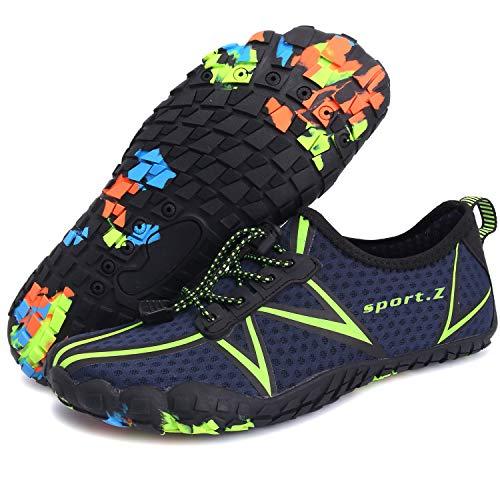 Centipede Demon Mens Quick Dry Barefoot Water Shoes for Men Diving Surf Sports Pool Beach Blue Women 10.5 M/Men 8 M