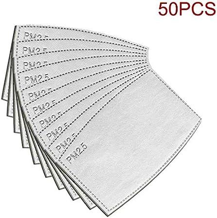 4,9 x 3,1 cm Filtre de Remplacement PM2.5 /à Charbon Actif 5 Couches filtres Anti-Brume pour Masques buccaux