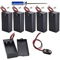 GTIWUNG 6PCS 9 volt batterijhouder met schakelaar, 9V batterijhouder met schakelaar, 6PCS 9V batterijclipconnector met…