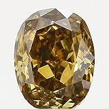 Narshiha Natural Loose Diamond Oval Yellow Brown Color SI1 Clarity 3.14 MM 0.10 CT N6490
