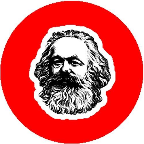 Karl Marx Costume (Red Color Button Pin Karl Marx Communist Manifesto Socialist Radical Revolution)
