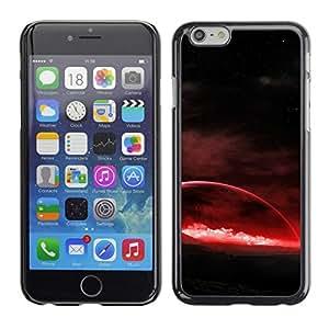 Caucho caso de Shell duro de la cubierta de accesorios de protección BY RAYDREAMMM - Apple Iphone 6 Plus 5.5 - planeta rojo