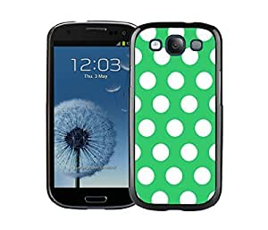 Graceful Samsung Galaxy S3 Black Case Diy Polka Dot Green and White Speck Phone Cover