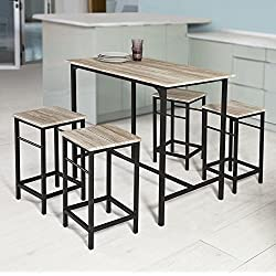 Haotian OGT11-N,Sling High Bistro Set,Home Kitchen Outdoor Garden Bar Set,Patio Furniture, Dining Set