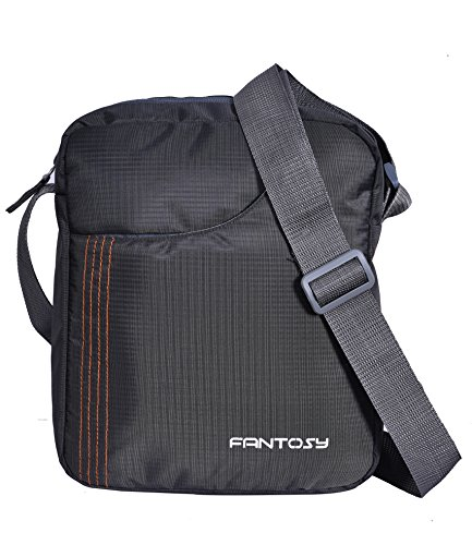 Fantosy men Grey polyester slingbag(Grey)(MB-012)