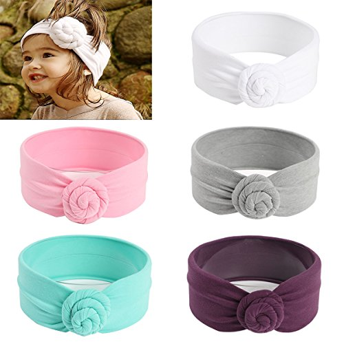 Dots Hair Bands - Mookiraer Baby Girl Newest Round Dot Turban Headband Head Wrap Knotted Hair Band (BK01)