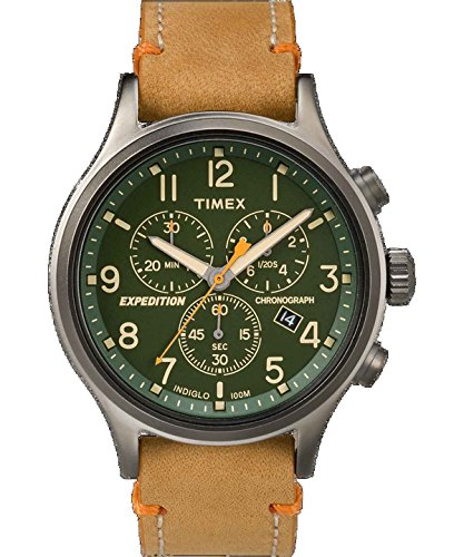 Green Dial Tan Leather Strap - 5