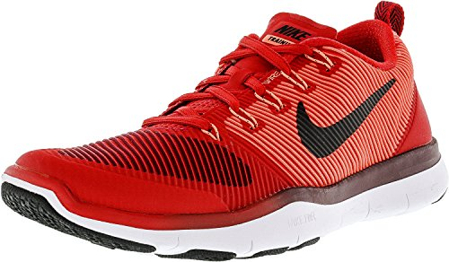 NIKE Free Train Versatilty Mens Red Textile Athletic Lace Up Running Shoes - Running Ambassador