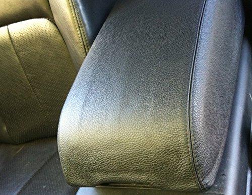 2003-07 compatible with Infiniti G35 Black leather-Black thread sedan automatic RedlineGoods armrest cover V35