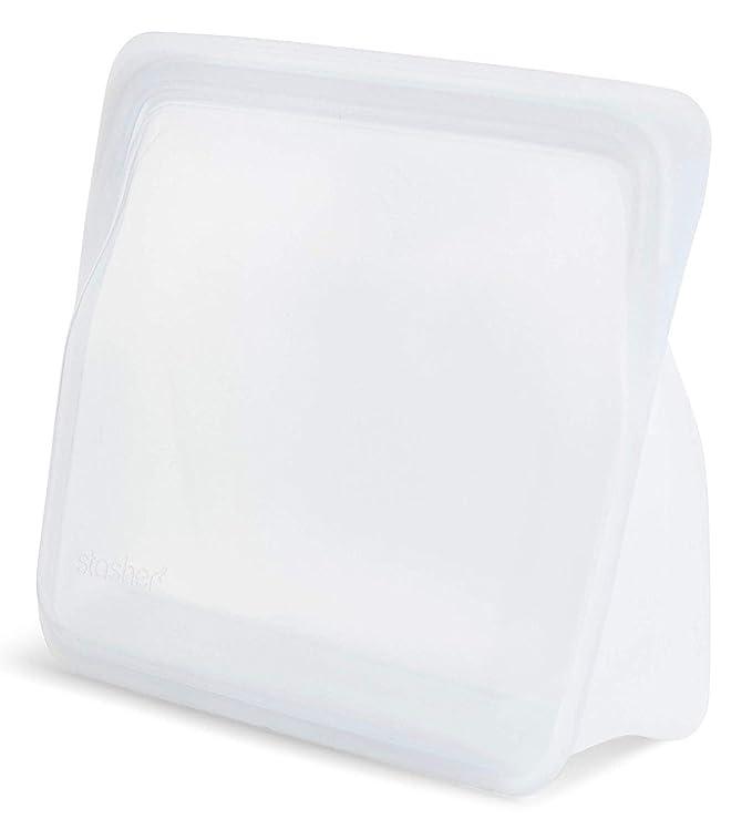 Stasher 960 - Bolsa reutilizable para alimentos (platino, 20 ...