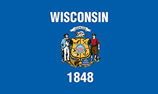 product image for Valley Forge Flag 2-Foot by 3-Foot Nylon Wisconsin State Flag with Canvas Header and Grommets