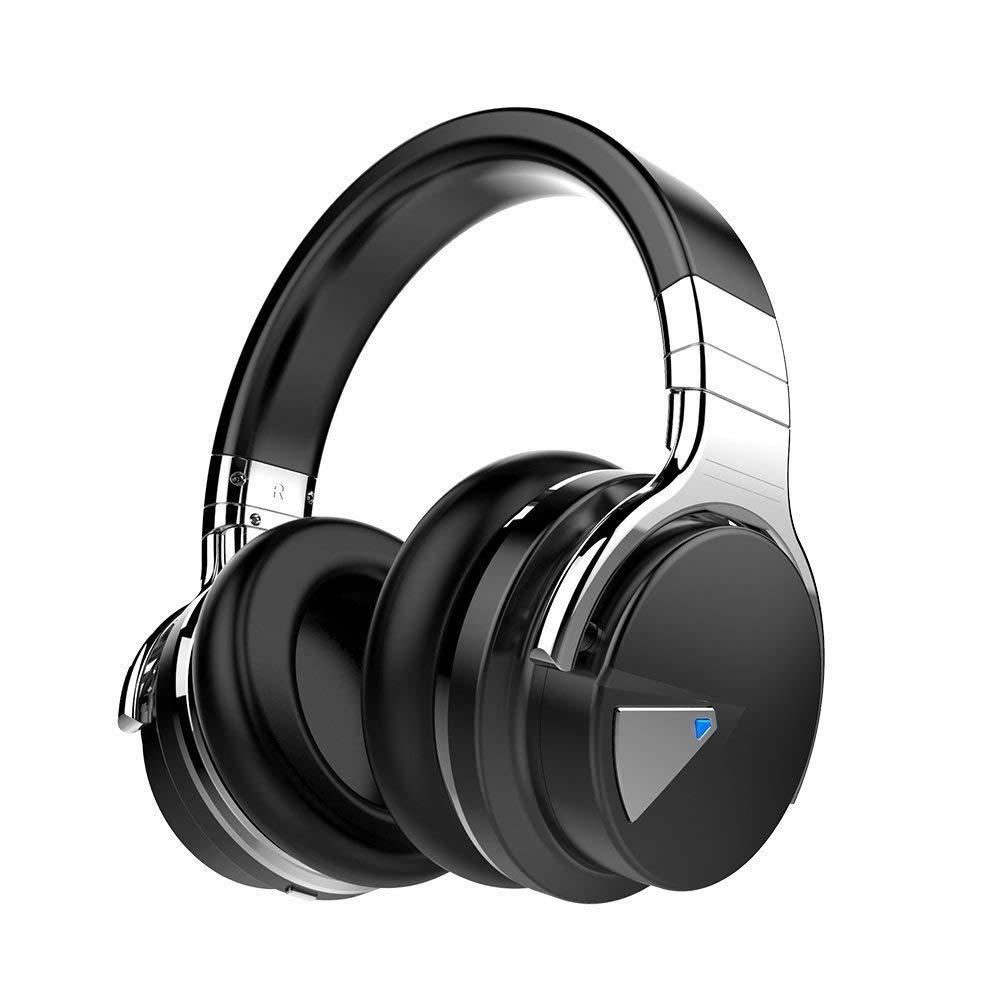 cowin E7-5 Bluetooth Kopfhörer Kabellose Headset Stereo Bluetooth Over Ear Wireless Bluetooth-Kopfhörer mit Mikrofon, 30-Stunden-Spielzeit für iPhone, Android, PC und Andere Bluetooth – Schwarz