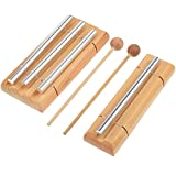 #8: Frienda 3 Tone and Solo Energy Chime with Wooden Mallet Percussion Musical Chime for Meditation, Eastern Energies, Yoga or Children, Teachers' Classroom Bell