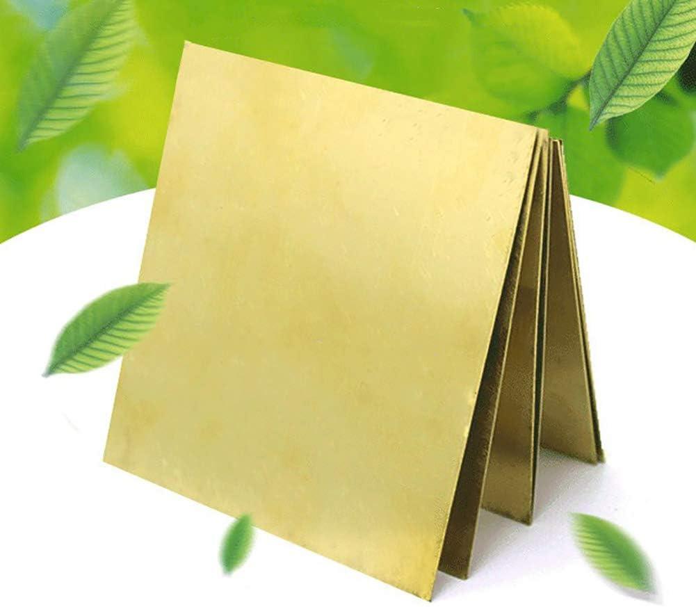 Placa de l/ámina de lat/ón de alta pureza de pel/ícula de oro Espesor 0.3-0.6mm 300/×500mm 0.3mm Espesor MAOZAO Lat/ón Metal Thin Sheet Foil Plate Roll H62