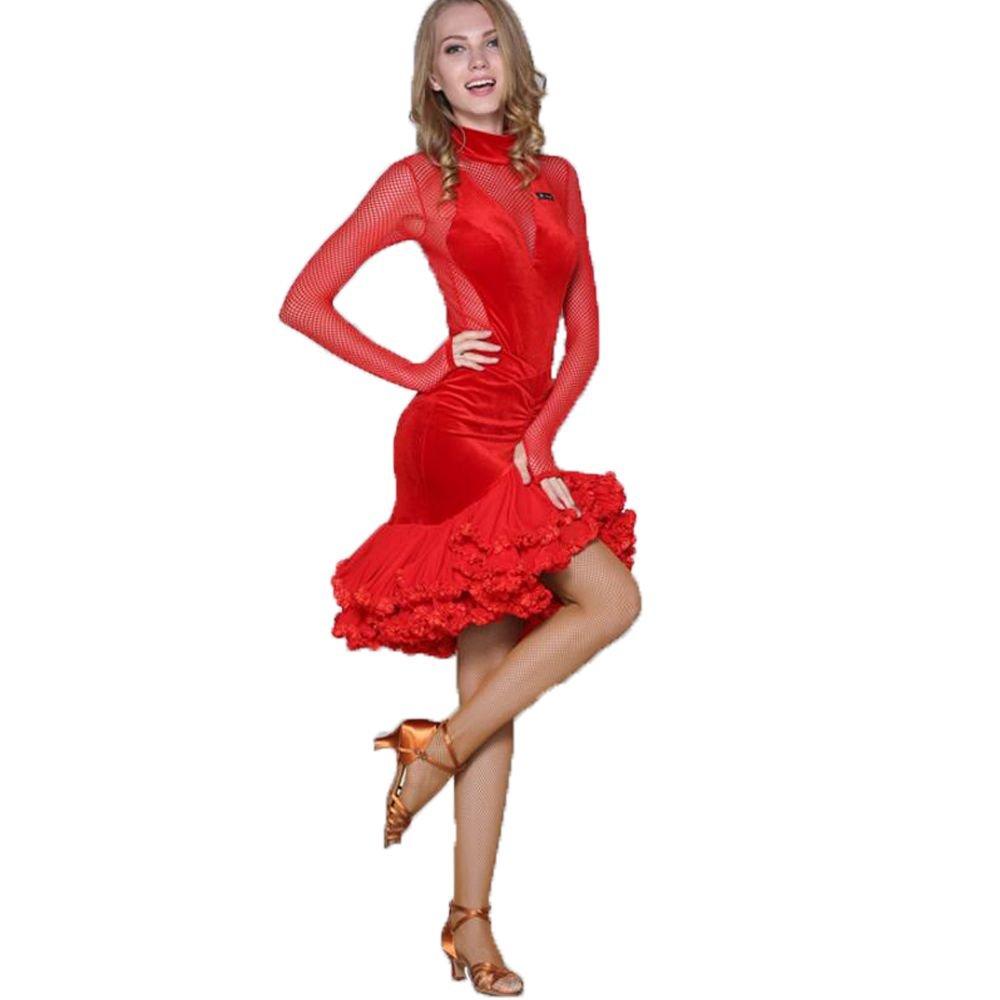 独創的 新入荷 新入荷 社交ダンスドレス ラテンドレス モダンドレス ロングスカート ダンスウエア B07B482LH6 競技 デモ デモ ダンス衣装 オーダーメード 全2色 B07B482LH6 Medium|レッド レッド Medium, 青森市:a7c5af8c --- a0267596.xsph.ru