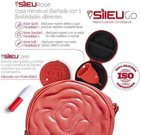 Pack Sileu Go: Copa menstrual Rose - Modelo de iniciación - Alternativa ecológica, natural a tampones y compresas - Talla S, Transparente, ...