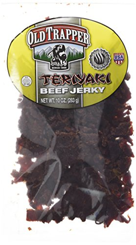 Old Trapper Beef Jerky 10oz, Naturally Smoked,Teriyaki Flavor