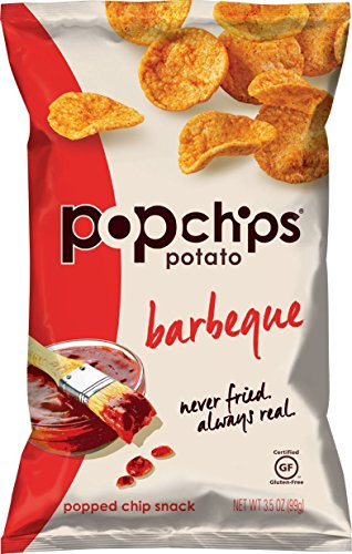 Popchps Potato Chips, Barbeque, 3.5 Ounce (Pack of 12) (Popchips Bbq Potato Chip)