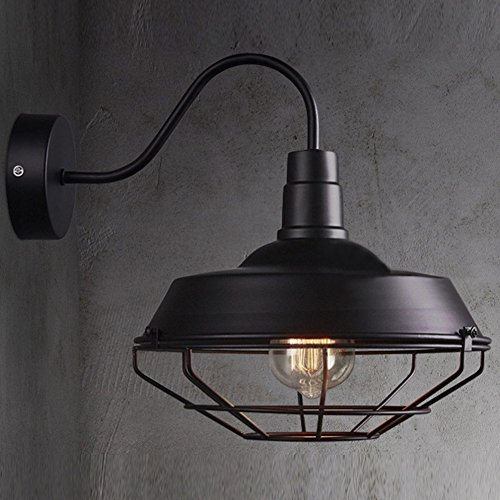 Black Outdoor Gooseneck Warehouse Lamp