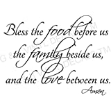 BLESS THE FOOD FAMILY LOVE KITCHEN VINYL WALL DECAL LETTERS DECOR BY G & B VINYL DECALS