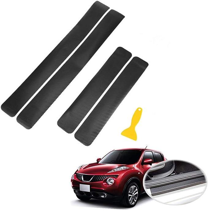 WE-WHLL Adesivo per davanzale di Protezione in Gomma in Fibra di Carbonio Auto Styling Paraurti per Auto Strip-Red