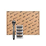 Shave It 4 Piece Pro Starter Kit with Five Blade Razor System & Refill Cartridges
