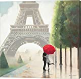 small bedroom decorating ideas Paris Romance II by Marco Fabiano Canvas Art Wall Picture, Gallery Wrap, 12 x 12 inches