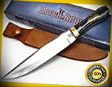 Micarta Coffin Straight Fixed Blade Bowie Sharp Knife with Sheath 1643 perfect for outdoor camping hunting