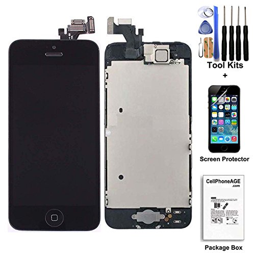 CELLPHONEAGE For iPhone 5 New LCD Touch Screen Replacement with...
