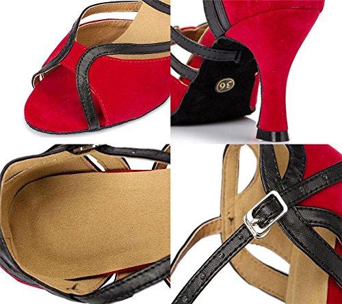 Velluto 35 XIE da A Danza EU38 EU38 ballo latino Scarpe sandali donna Taglia da Sala 75CMHEEL Taogo pompe 40 CqW1tnW
